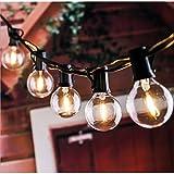 AUOPLUS G40 Cadena de Luces,9.1M Guirnaldas Luminosas Exterior con 30+3(Bombillas Repuestas) Luces Jardín al Aire Libre,IP44 Impermeable para Fiesta,Boda,Patio,Cafe,Cable de Extensión 3M Incluida
