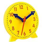 JKGHK Learning Resources Big Time Learning Clock, Reloj Analógico, Educación En El Hogar, 12 Horas, Desarrollo Matemático Básico