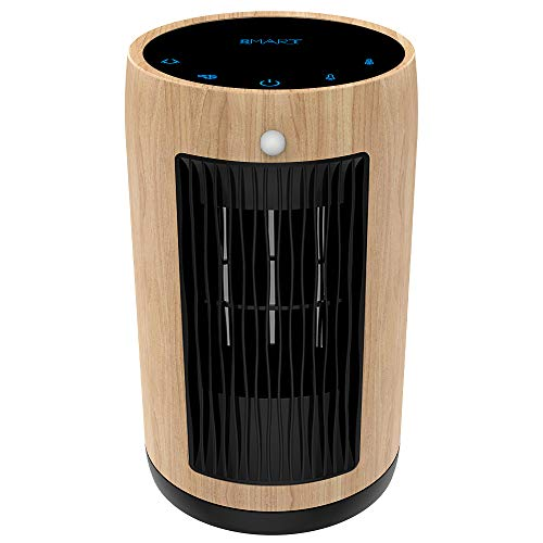 XBUTY Ceramic Space Heater - 1500W Portable Heater with Multi-protection and 3500R/M High-speed Fan, 3 Settings, 90° Oscillation, Smart PIR, ETL Listed,for Home and Office, 2-Year Warranty,Yellow wood Electric Features heaters Home Kitchen Space