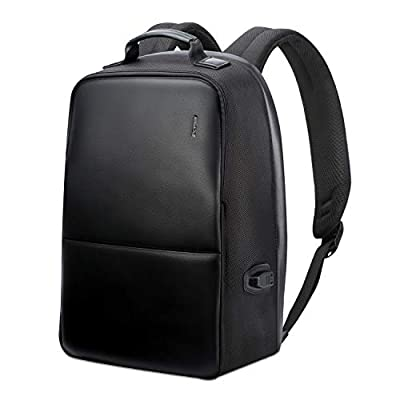 BOPAI Anti-Theft Business Backpack 15.6 Inch Laptop Water-Resistant with USB Port Charging Travel Backpack Anti-Glare Functional Rucksack Light-Weight Backpack for Men (15.6 inch, Black)