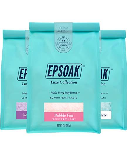 Best Sellers Luxury Bag Bundle - Sleep Lavender, California Breeze, & Bubble Fun Foaming Bath Salts (2 lb. Bag of Each) by Epsoak (Packaging May Vary)