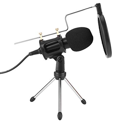 Tosuny Live microfoon, interview-microfoon, condensatormicrofoon, studio, karaoke, opnamemicrofoon, noise cancelling, handheld karaoke systeem voor computer, mobiele telefoon