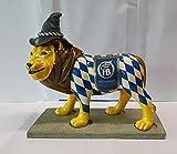 Tramondi XXL Deko Löwe I Bayern Bayrische Dekoration I Rautenmuster I Biergarten I Oktoberfest I Alpen Deko I Bayrischer Abend