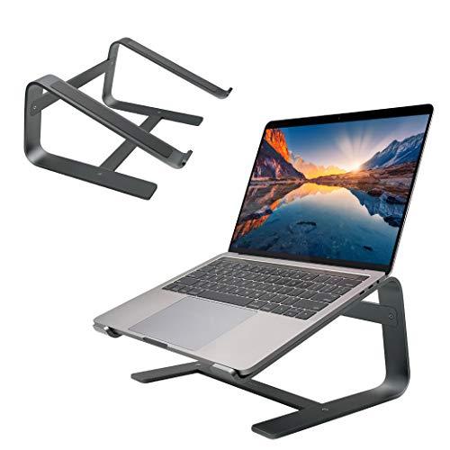 Macally Astandsg Laptop-Ständer für den Schreibtisch, funktioniert mit Allen MacBook/Pro/Air und Laptops zwischen 25,4 cm bis 43,9 cm (10 bis 17,3 Zoll), schlankes und stabiles Laptop-Erhöhung, Grau