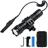 LED flashlights, Five Mode Tactical flashlights, 1600 lumens inforce Weapon Light, 18650 Rechargeable flashlights, IP65 Waterproof Flashlight, Picatinny Flashlight,Tactical Light with Pressure Switch