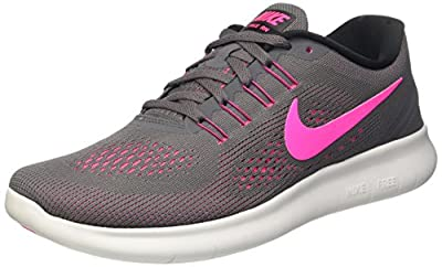 Nike Womens Free RN Running Shoes Dark Grey/Pink Blast 831509-006 Size 8