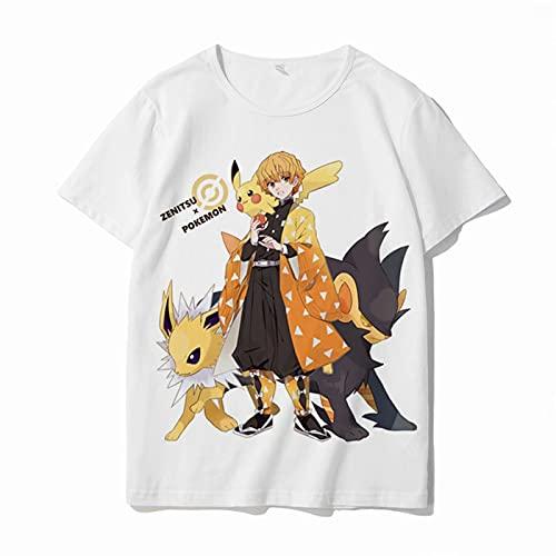 CuteFairy Unisex Demon Slayer Kimetsu Anime 2D Gedruckt Sommer DS T-Shirt Kurzarm Tees Erwachsene & Kinder Größen Gr. S, DS02