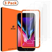 ZOVER Privacy Screen Protector Compatible With iPhone 8 7 6S 6 [Privacy Protection ] Anti-Spy Full Coverage Durable Tempered Glass Screen Protector [Installation Frame Included ] White