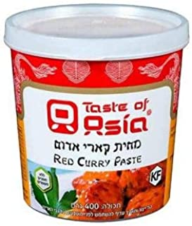Taste of Asia Kosher Red Curry Paste, 400g