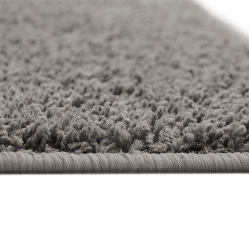 Floori® Shaggy Teppich | Grau/Anthrazit - Größe wählbar - GuT-Siegel/PRODIS - moderner Wohnzimmerteppich