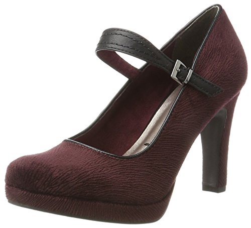 Tamaris Damen 24408 Pumps, Rot (Berry/Black), 37 EU
