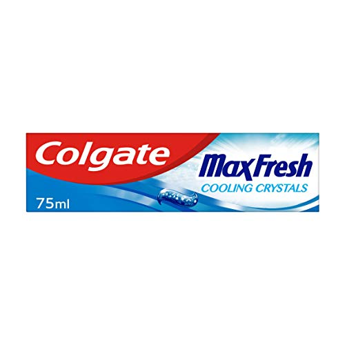 Colgate Max Fresh Cooling Crystals Toothpaste 75 ml, Teeth Whitening Toothpaste, Cool Mint Flavour, Pack of 1