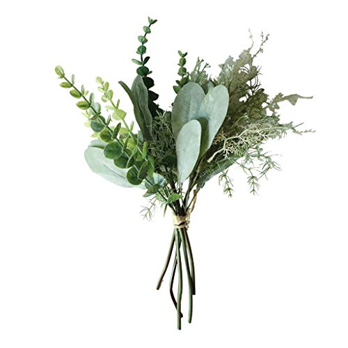ToDIDAF Künstliche Kiefernnadeln Kunstpflanze Kunstblumen Künstliche Pflanze Künstliche Blumen für Weihnachten Geburtstag Hochzeit Wohnzimmer Büro Cafe Desktop Dekoration 31cm