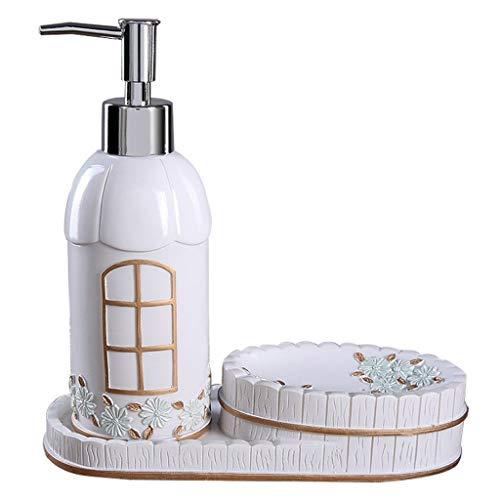 Dispensador de jabón Botella de jabón desinfectante de manos, caja de jabón, jabón creativo, loción, baño, baño, prensa de presión, botella, dispensador de jabón Botellas de jabón ( Color : Blue )