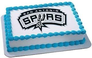 San Antonio Spurs Licensed Edible Cake Topper #4704