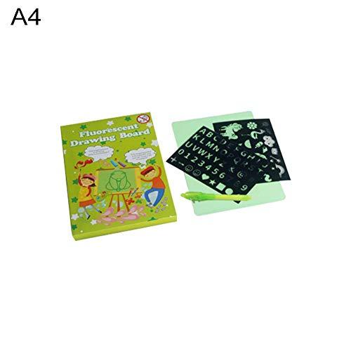Magic Drawing Pad Board – licht tekenbord – gloeien in het donker met licht voor kinderen schilderen ontwikkelen, tekenen of schrijven vaardigheden, educatief speelgoed voor kinderen A4.