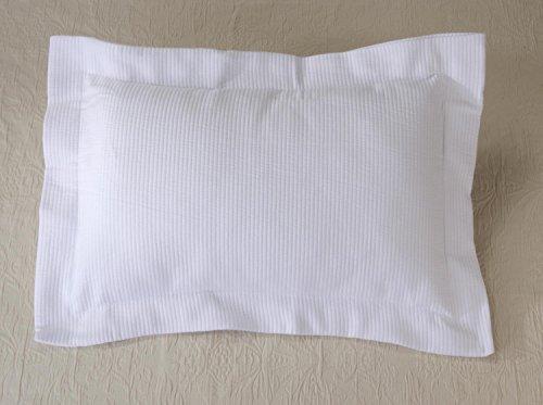 Kissen Wohnen & Accessoires Joli Coussin Annabelle en Bandes de qualité en Blanc 50 x 30 cm, avec matelassé