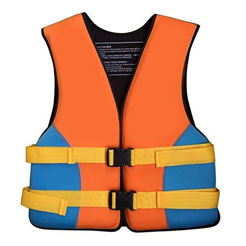Chaleco de Natación Chalecos Salvavidas Profesionales Para Adultos / Niños, Chaleco de Seguridad de Ayuda a La Flotabilidad Para Deportes Acuáticos Unisex Para Kayak, Surf,Esnórquel,adultorange-XL