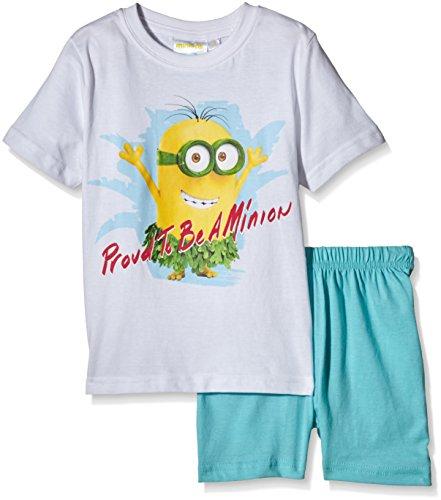 Universal Pictures Jungen Zweiteiliger Schlafanzug Minions, Blau-Blue (Atoll), 6 Jahr