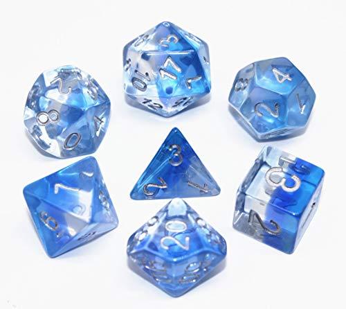 Flexble DND Polyedrische Würfel Rollenspielwürfel für Dungeons and Dragons Pathfinder RPG D & D Tischspiele Würfel (Eiszapfen Blau)