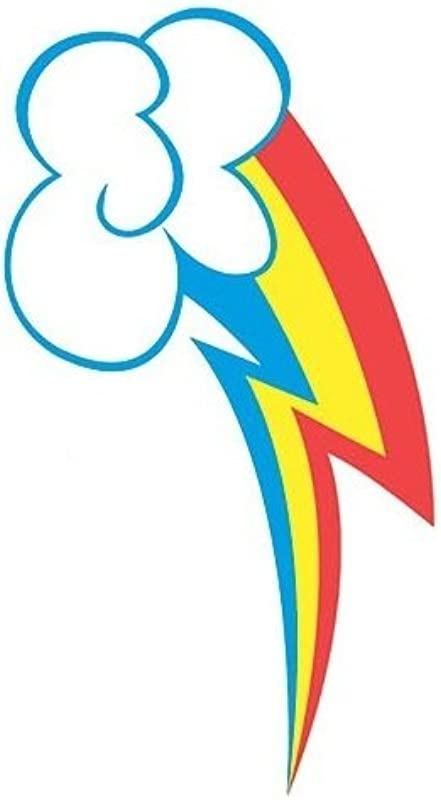 6 Cutie Mark Rainbow Dash MLP My Little Pony Removable Peel Self Stick Adhesive Vinyl Decorative Wall Decal Sticker Art Kids Room Home Decor Girl Children Bedroom Nursery 6 X 2 1 2 Inches Tall