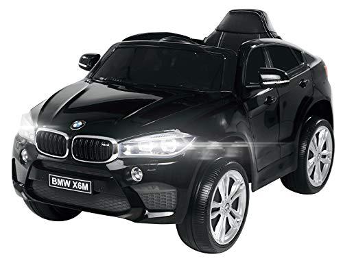 Actionbikes Motors Kinder Elektroauto BMW X6M F16 - Lizenziert - 90 Watt Motor - Eva Vollgummi Reifen - 2,4 Ghz Fernbedienung (Schwarz)