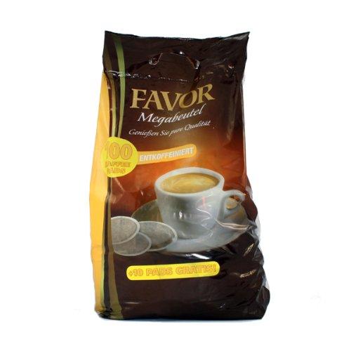 Favor Entkoffeiniert KaffeePads Megabeutel 100 Stuck