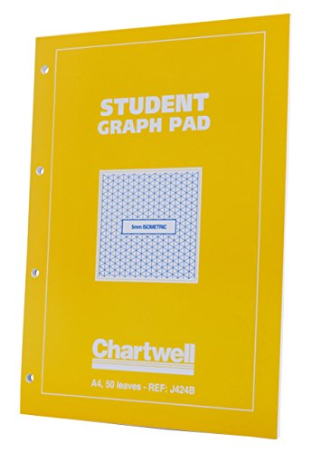 Chartwell Graph Pad, Papier, Groen Cover Isometrische A4 Gele Cover