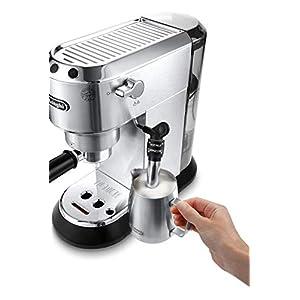 DeLonghi Dedica Style EC 685.M + KG79 Independiente Máquina espresso 1,1 L Semi-automática – Cafetera (Independiente, Máquina espresso, 1,1 L, Dosis de café, De café molido, 1300 W, Negro, Metálico)