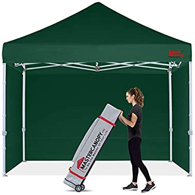 MASTERCANOPY Commercial Pop-up Canopy Tent 8x8 Heavy Duty Instant Canopy with Sidewalls (Forest Green)