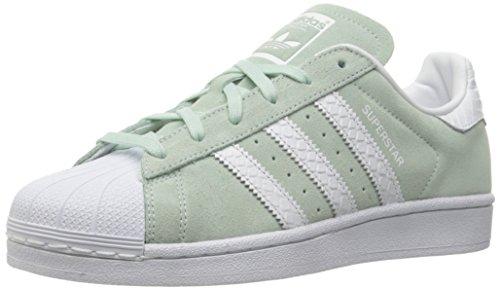 Adidas ORIGINALS Superstar, Zapatillas para Mujer, Menta de Hielo, Blanco y Blanco, 42 EU
