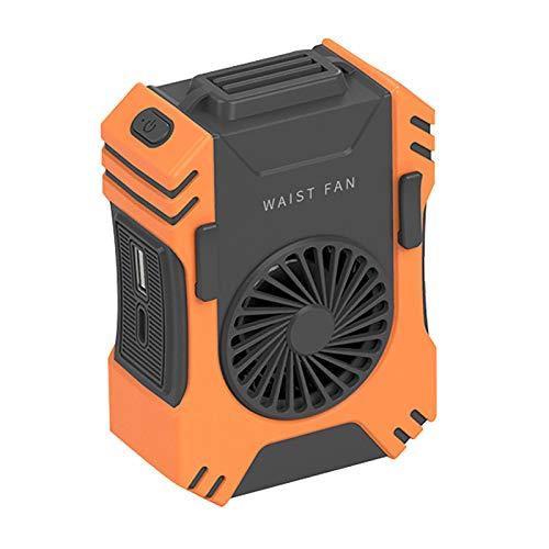 Ventilador portátil sin aspas de cintura, recargable por USB, con linterna fuerte, ventilador de banda para el cuello con ajuste de 3 velocidades para el hogar, viajes, deportes, camping, oficina