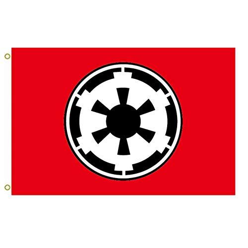 Zudrold Bandera Grande Imperio galáctico Bandera de Star Wars 0C Bandera al Aire Libre Bandera voladora Bandera de 3x5 pies