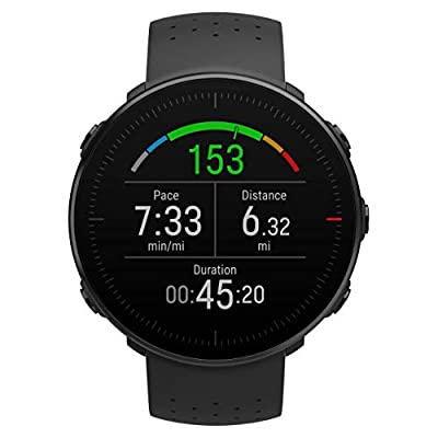 POLAR VANTAGE M –Advanced Running & Multisport Watch with GPS and Wrist-based Heart Rate (Lightweight Design & Latest Technology), Black, Small, Wireless