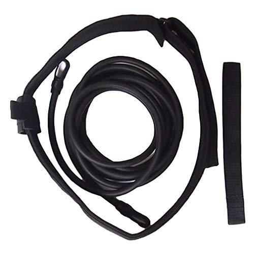 Guoshang Swim Training Strap Set,Swimmer Safety Training Strechy Resistance Bands Belt,Black,118inch