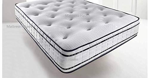 Mattress Haven Pocket Sprung Memory Foam Mattress - 1000 Springs - Soft / Medium4FT - Small double