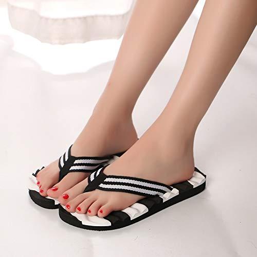 JIEIIFAFH Mujeres Flip Flop Zapatos de Plataforma Sandalias de Verano Mujer de la Playa de Las Chancletas for la Moda Casual de Las señoras Zapatos de Mujer (Color : Black, Shoe Size : 37)