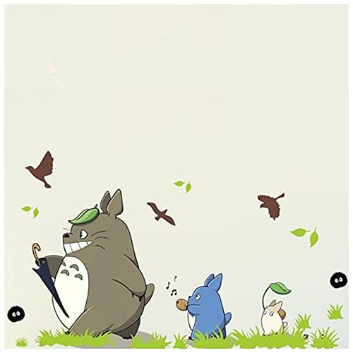 PMSMT Divertido Totoro Dibujos Animados Tatuajes de Pared 3D Vinilo Mural Pegatinas habitación de los niños decoración del Cuarto de niños Anime Poster Wallpaper 90 * 60 cm 3 Estilos