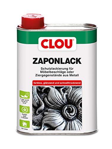Clou Zaponlack Schutzlackierung für Möbelbeschläge oder Ziergegenstände aus Metall im Innenbereich zum Anlaufschutz, 250ml