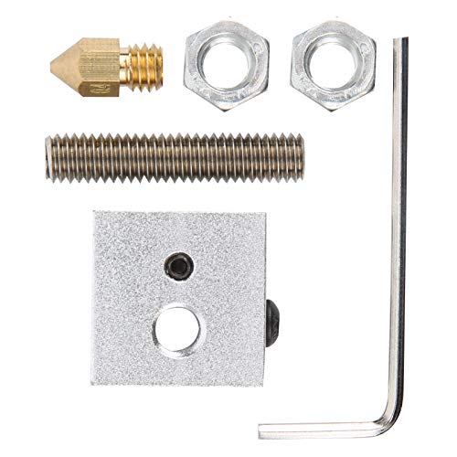 Long Service Life 3D Printer Accessories Stable 0.4mm Aluminum Heating Block for Diy Enthusiasts