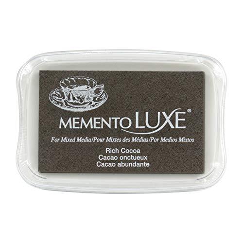 Memento Luxe Tsukineko Sauco–Almohadilla de Tinta, Color Cacao