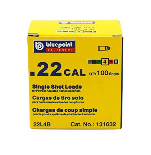 BLUEPOINT .22 Cal YELLOW Straight Wall Single Shot Powder Loads. (100 - Count). Item# 22SL4B.