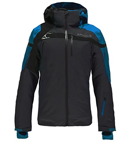 Spyder Herren Titan Jacke 783304, mehrfarbig (Polar/Electric Blue/Black), Gr. Small