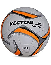 Vector X Panther Thermofusion Football, Size 5 - White-Orange