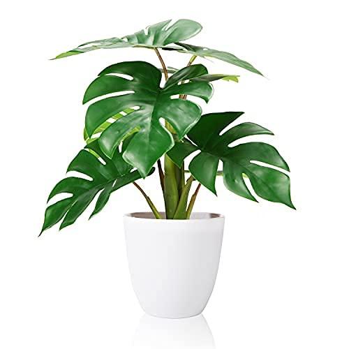 SOGUYI Plantas Artificiales Decorativas 40cm Tropicali Monstera Adecuado para Plantas Artificiales de Interior al Aire Libre para Oficinas en el hogar, Hoteles, Decoraciones Modernas