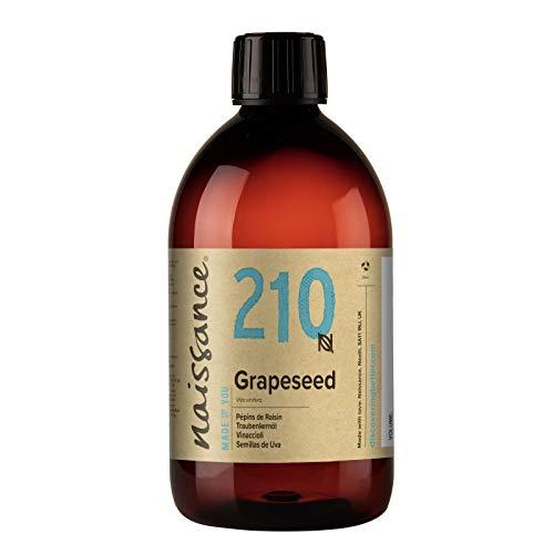 Naissance Huile de Pépins de Raisin (n° 210) - 500ml - 100% naturelle, odeur neutre, huile légère, fine et soyeuse - pour le soin de la peau ou les massages