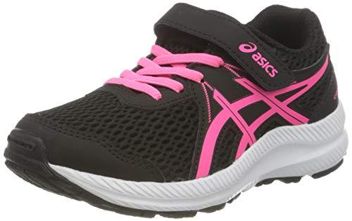 Asics Contend 7 PS, Road Running Shoe, Black/Hot Pink, 33.5 EU