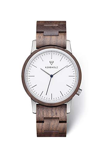 KERBHOLZ Holzuhr – Classics Collection Walter analoge Unisex Quarz Uhr, Gehäuse und...