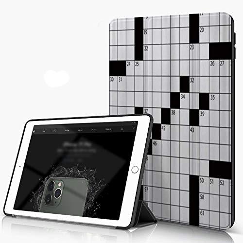 She Charm Funda para iPad 9.7 para iPad Pro 9.7 Pulgadas 2016,Crucigrama de Estilo periódico en Blanco Impreso en 3D con números en Word,Incluye Soporte magnético y Funda para Dormir/Despertar