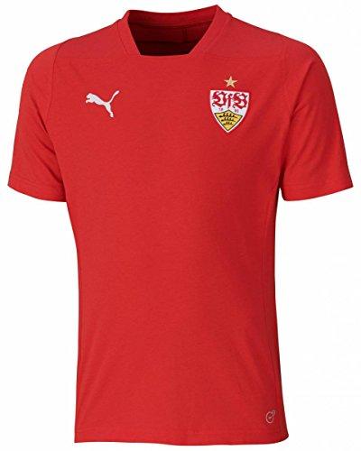 PUMA Herren VfB Stuttgart Casuals T-Shirt, Ribbon Red, M